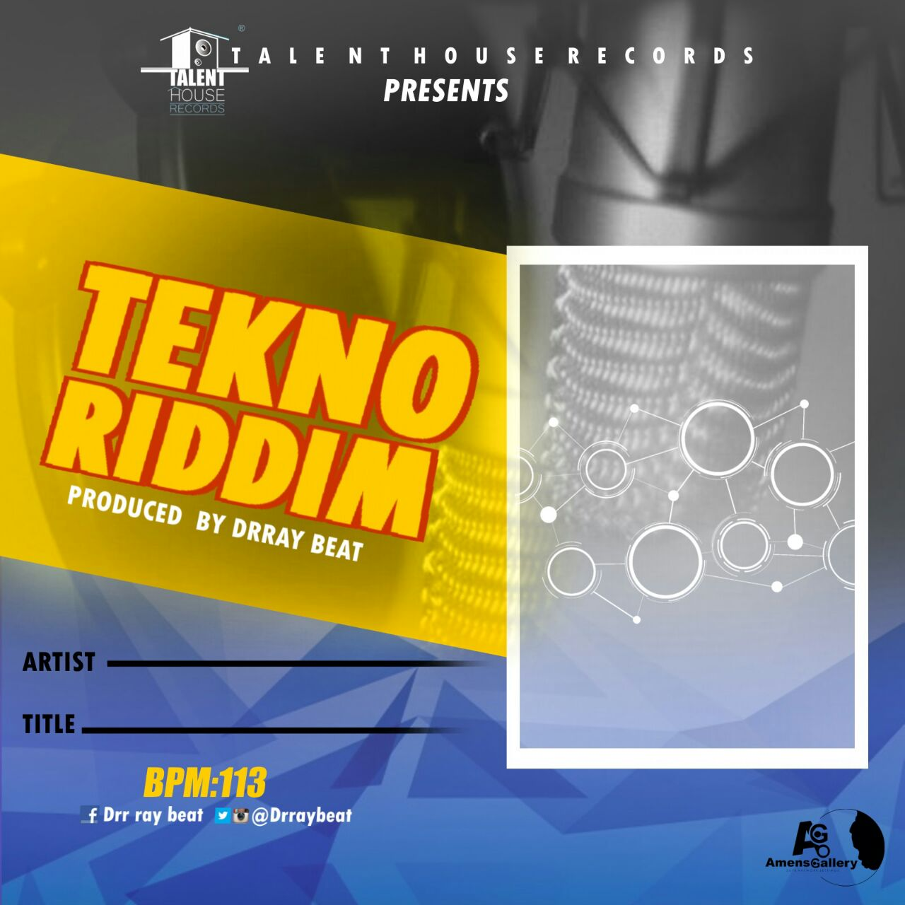 Dr Ray beat - Tekno Riddim (Free Instrumentals)Prod by drraybeat