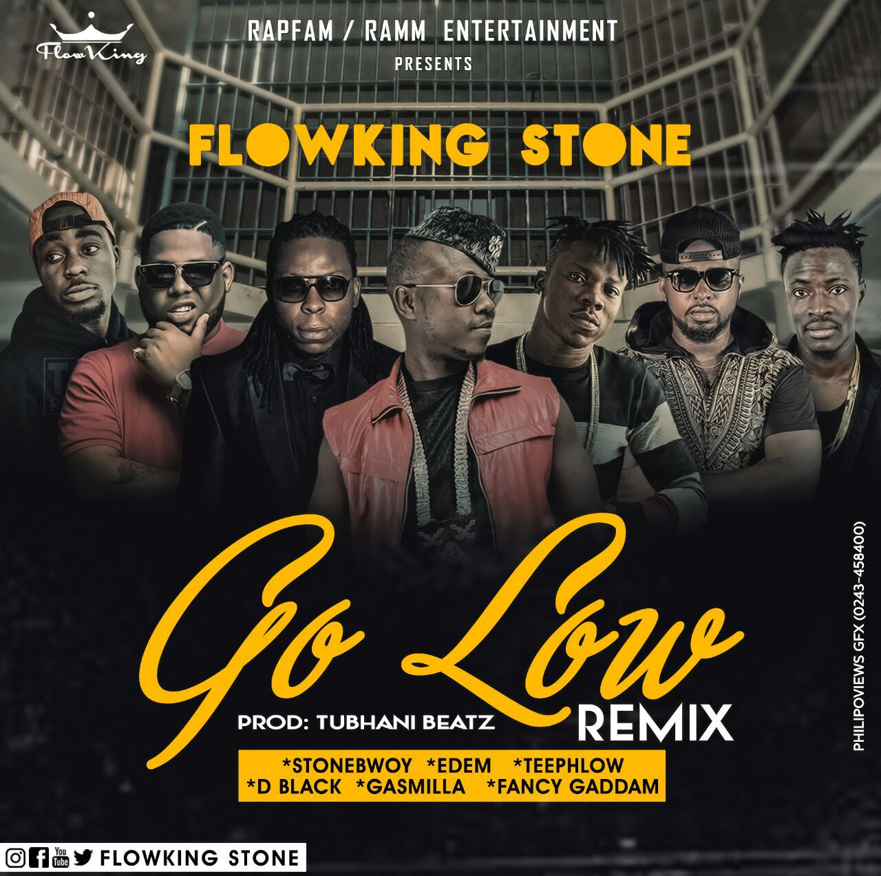 Flowking Stone – Go Low Remix ft Stonebwoy, Edem, D Black, Teephlow, Gasmilla, Fancy Gadam