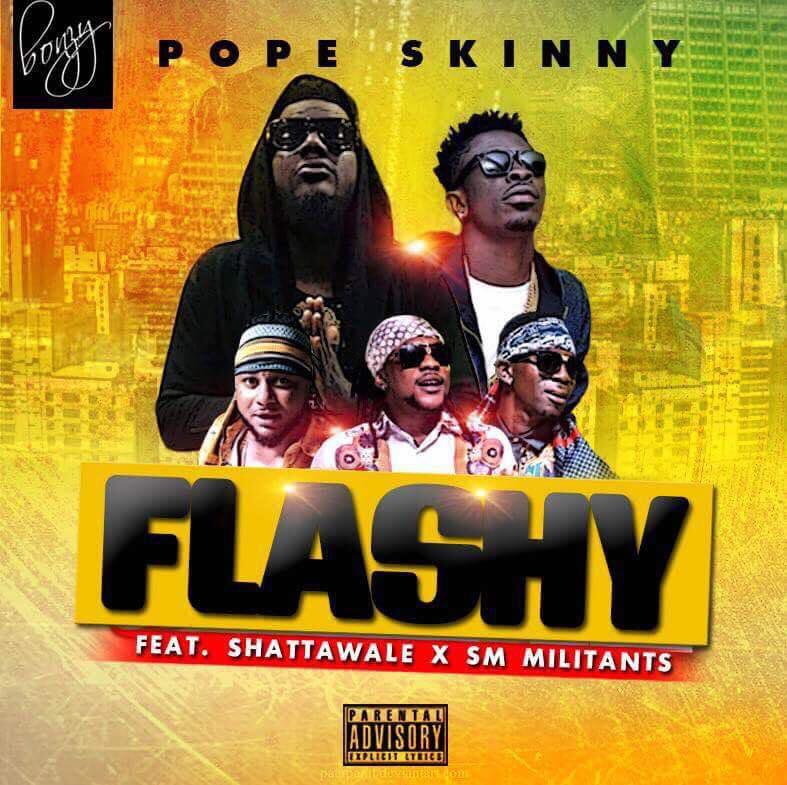 Pope Skinny - KP3KP3L3MI (FLASHY) Ft Shatta Wale,Militants (Prod By MOG)