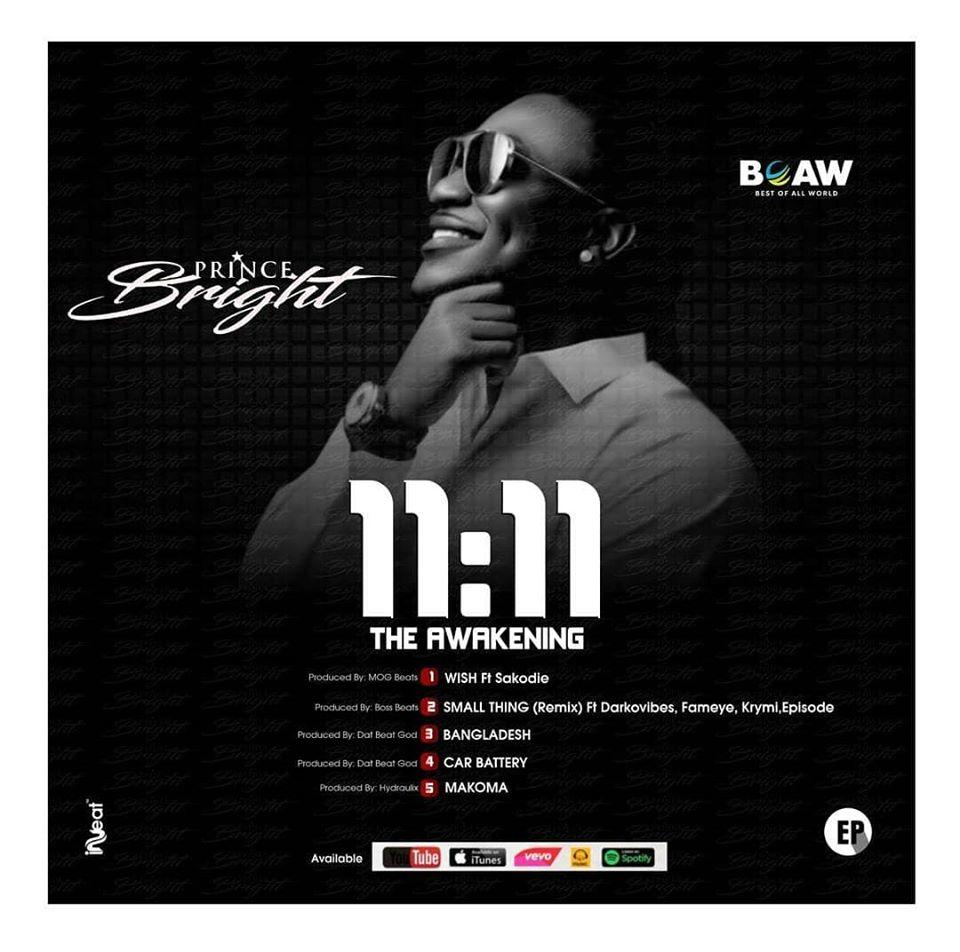 DOWNLOAD MP3 : Prince Bright (Buk Bak) Small Thing Remix Ft. Fameye x Darkovibes x Krymi x Epixode